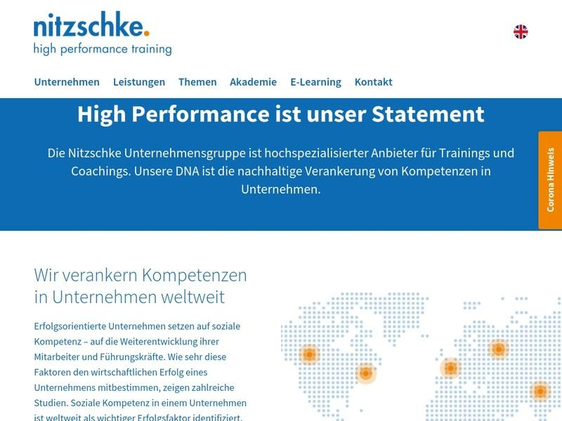 Screenshot von http://www.nitzschke-training.com/de/